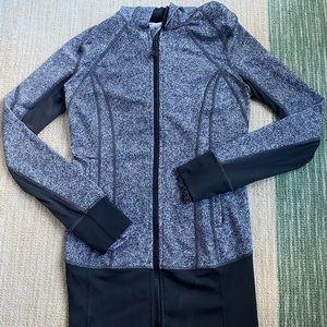 Lululemon Gray and White Zip Up Jacket